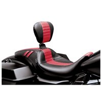 Le Pera Red Pleated Outcast GT Seat with Driver Backrest