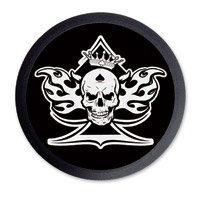 Barracuda Custom Accessories Skull/Spade Black Cam Cover Badge