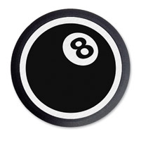 Barracuda Custom Accessories 8-Ball Black Cam Cover Badge