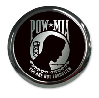 Barracuda Custom Accessories POW/MIA Chrome Cam Cover Badge