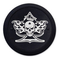 Barracuda Custom Accessories Skull/Spade/Flames Black Derby Cover Set