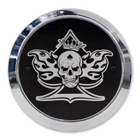 Barracuda Custom Accessories Skull/Spade/Flames Chrome Derby Cover Set