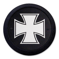 Barracuda Custom Accessories Maltese/Iron Cross Black Derby Cover Set