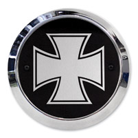 Barracuda Custom Accessories Maltese/Iron Cross Chrome Derby Cover Set
