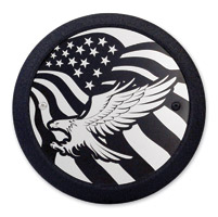 Barracuda Custom Accessories Eagle/U.S. Flag Black Derby Cover Set
