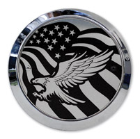 Barracuda Custom Accessories Eagle/U.S. Flag Chrome Derby Cover Set