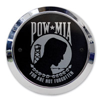 Barracuda Custom Accessories POW/MIA Chrome Derby Cover Set
