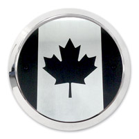 Barracuda Custom Accessories Canadian Flag Chrome Derby Cover Set