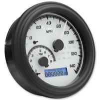 Dakota Digital White/Gray MVX-2004 Series Analog Gauge System with Black Bezel