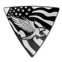 Barracuda Custom Accessories Eagle/U.S. Flag Right Side Wedge Badge