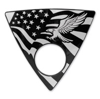 Barracuda Custom Accessories Eagle/U.S. Flag Keyhole Left Side Wedge Badge