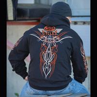 J&P Cycles® Old School Pinstripe Black Hoodie