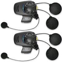Sena Technologies SMH5-FM Dual Pack Bluetooth Headset/Intercom for Open Face or Flip Up Helmets