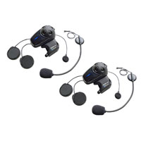 Sena Technologies SMH10 MC Bluetooth Headset/Intercom with Universal Mic Kit Dual Pack