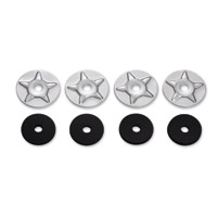 Show Chrome Accessories Star Washers with Rubber Washer