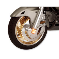 Show Chrome Accessories Amber Front Rotor Covers