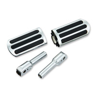 Show Chrome Accessories Chrome Rail Slider Passenger Footpegs