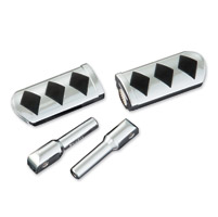 Show Chrome Accessories Chrome Diamond Slider Passenger Footpegs