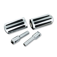 Show Chrome Accessories Chrome Teardrop Slider Passenger Footpegs