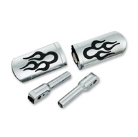 Show Chrome Accessories Chrome Flame Slider Passenger Footpegs