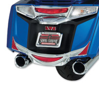 Show Chrome Accessories Rear Chrome Saddlebag Trim Accents