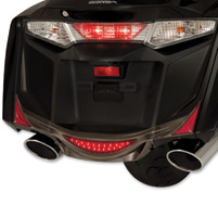 Show Chrome Accessories Rear Smoked Saddlebag Trim Accents
