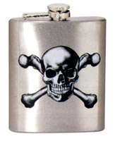 Spoontiques Skull & Crossbones Flask
