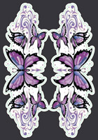 Lethal Threat Purple Butterfly Mini Decal