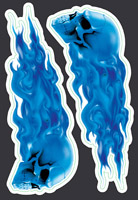 Lethal Threat Blue Skulls Mini Decal Set