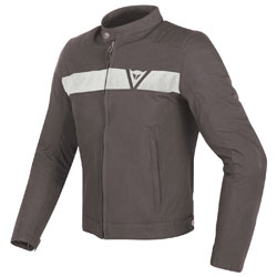 Dainese Men's Stripes Dark Brown/White Textile Jacket