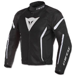 Dainese Men's Air Crono 2 Black/Black/White Textile Jacket
