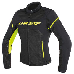 Dainese Women's Air Frame D1 Black/Fluo Yellow Jacket