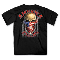 Hot Leathers Men's America Rising Black T-Shirt