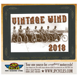 National Motorcycle Museum 2018 Vintage Wind Calendar