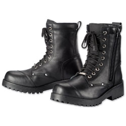 Tour Master Men's Coaster Waterproof Black Leather Boots