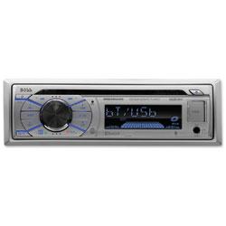 Boss Audio Systems Single-DIN 50 Watt CD Player, Silver