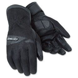 Tour Master Men's Dri-Mesh Black Gloves