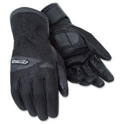 Tour Master Men's Dri-Mesh Black Gloves