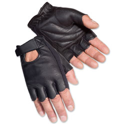 Tour Master Men's Select Fingerless 2.0 Black Gloves
