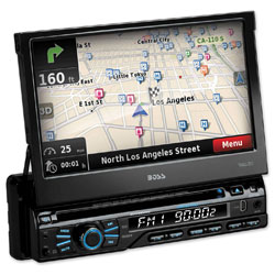 Boss Audio Systems Single-DIN Touchscreen DVD Player with NAV, Black