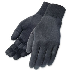 Tour Master Men's Black Silk Glove Liners