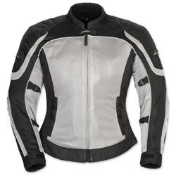 Tour Master Women's Intake Air 4 Silver/Black Jacket