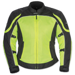 Tour Master Women's Intake Air 4 Hi-Viz/Black Jacket