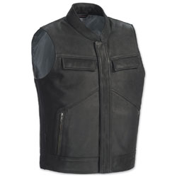 Tour Master Men's Renegade Black Leather Vest