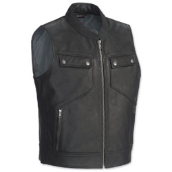 Tour Master Men's Nomad Black Leather Vest