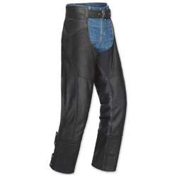 Tour Master Men's Nomad Black Leather Chaps