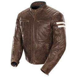 Joe Rocket Men's Classic '92 Brown/Cream Leather Jacket