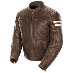 Joe Rocket Men's Classic '92 Brown/Cream Leather Jacket