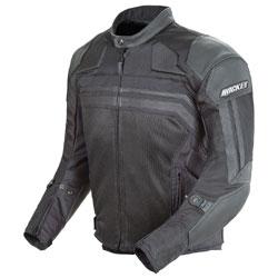 Joe Rocket Men's Reactor 3.0 Black/Black Mesh/Leather Jacket