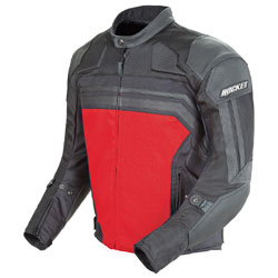 Joe Rocket Men's Reactor 3.0 Black/Red Mesh/Leather Jacket